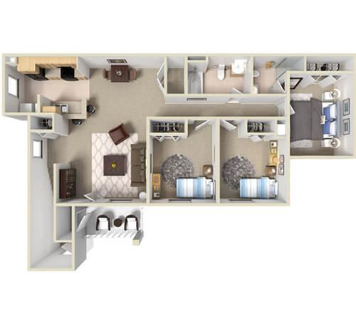 The Grand Mesa | 3 Bedroom and 1.5 Bathroom