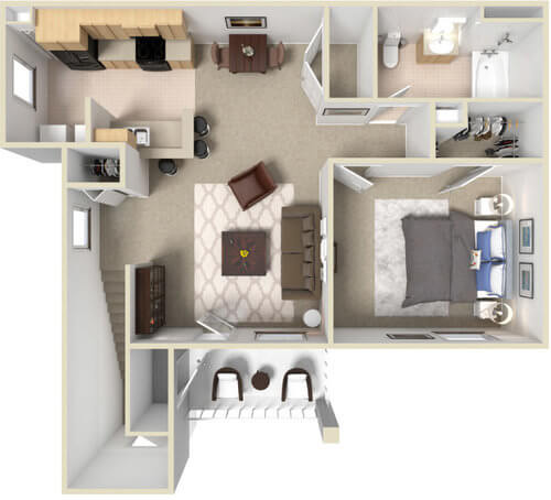 The Ocala   One Bedroom, One Bathroom
